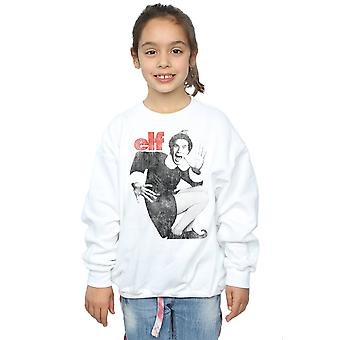 Elf Girls Mono Distressed Poster Sweatshirt