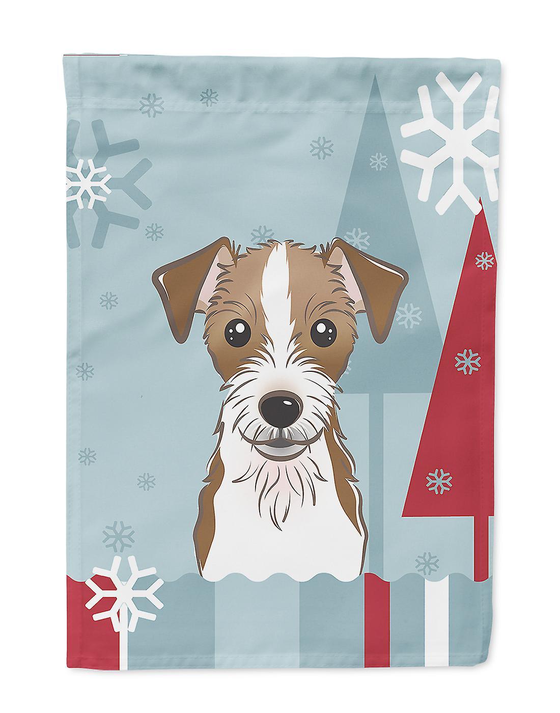 Drapeau de Jack Russell Terrier hiver vacances maison Taille du canevas