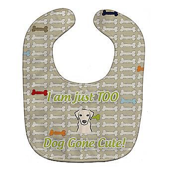 Carolines Treasures  BB5791BIB Too Cute Yellow Labrador Baby Bib