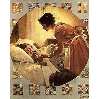 Mothers Little Angel Poster Print by Norman Rockwell (12 x 15)