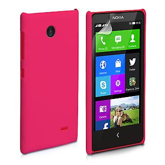 Yousave Accessories Nokia X Hard Hybrid Case - Hot Pink