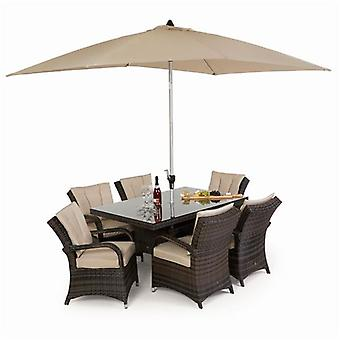 Texas 6 Seat Rectangle Rattan Furniture Set
