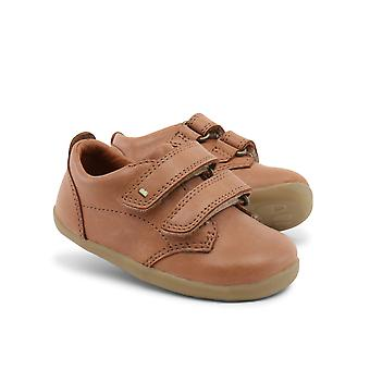 Bobux Step Up Port Toddlers Tan Leather Barefoot Shoes