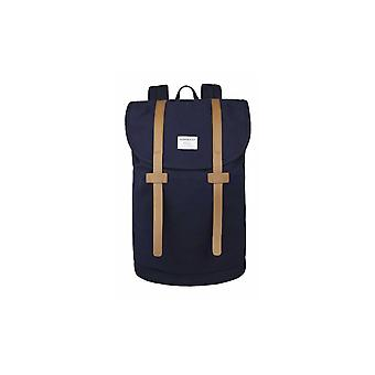 Sandqvist Stig Large Canvas Backpack (Blue)