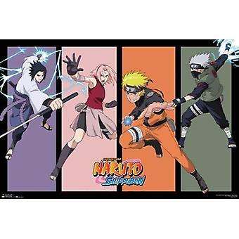 Naruto Team 7 Ii plakatutskrift