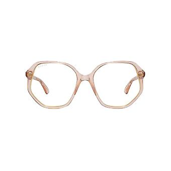 Gucci Retro Geometric Sunglasses In Transparent Pink