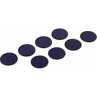 Hook-and-loop stick-on dots stick-on Hook and loop pad (Ø) 47 mm