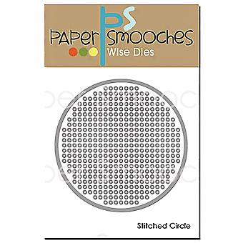 Paper Smooches Dies-Stitched Circle J1D423
