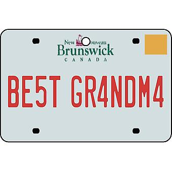NEW BRUNSWICK - Best Grandma License Plate Car Air Freshener