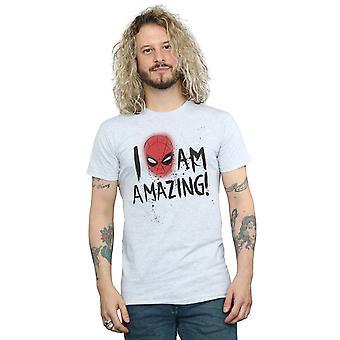 Marvel Men's Spider-Man I Am Amazing T-Shirt