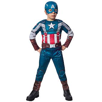 Captain America Muscle Avengers Winter Soldier Retro Superheroes Boys Costume