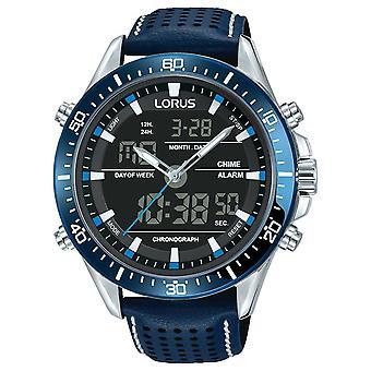 Lorus Mens Sport Analogue/Digital Chronograph Blue RW643AX9 Watch