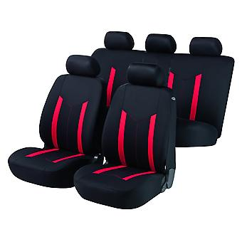 Hastings Car Seat Cover Black & Red For Toyota AVENSIS 1997-2003