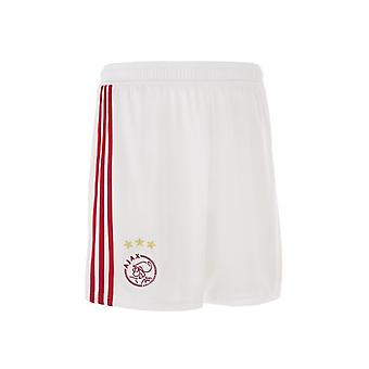 2018-2019 Ajax Adidas Home Shorts (White)