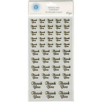 Victoria Lynn Stickers 47/Pkg-Gold Thank You