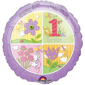 Anagram 18in 1st Birthday Circle Foil Balloon