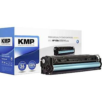 KMP Toner cartridge replaced HP 128A, CE321A Cyan 1300 pages H-T145