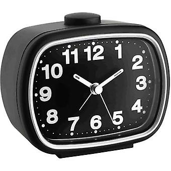 TFA 60.1017.01 Quartz Alarm clock Black Alarm times 1 Fluorescent Hands