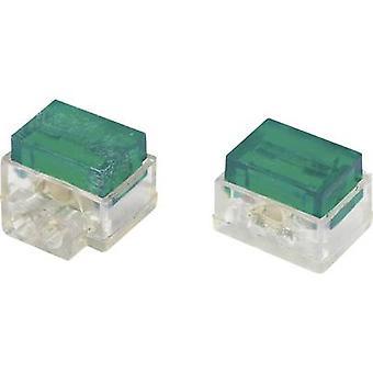 Core connector flexible: 1.13-1.13 mm² rigid: 1.13-1.13 mm² Number of pins: 2 Conrad Components SJT7 30 pc(s) Green