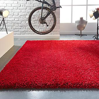 Hudson Red  Rectangle Rugs Plain/Nearly Plain Rugs