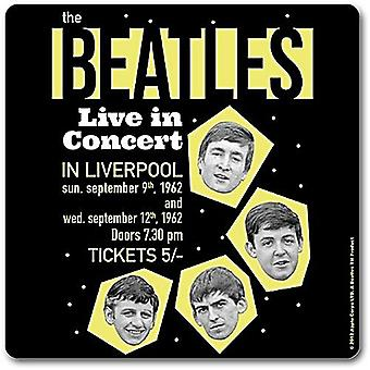 Beatles Live In Liverpool 1962 Drinks Mat / Coaster