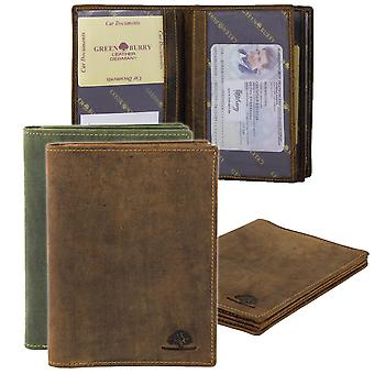 Greenburry vintage leather ID card solution hunting license case 328 B