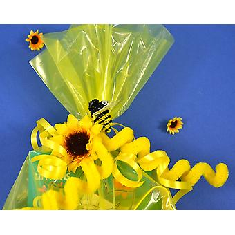 30 Long Cellophane Party Bags - Yellow | Kids Party Loot Bags