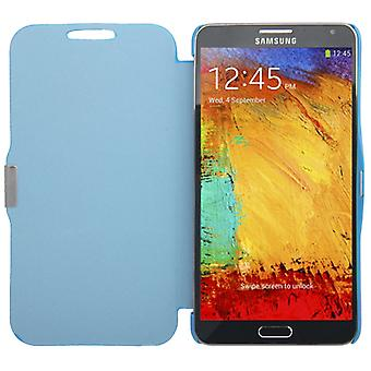 Handyhülle Tasche für Samsung Galaxy Note 3 N9000 blau gebürstet