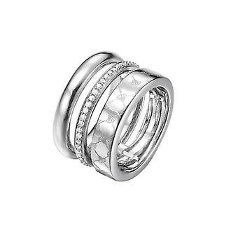 Joop women's ring stainless steel Silver modern twist JPRG00014A1