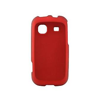 Sprint Rubberized Snap-On Cover for Samsung Trender SPH-M380 (Red)