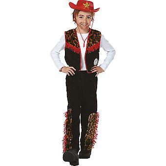 Cowboy Bill snällare kostym pojke av vilda västern karneval