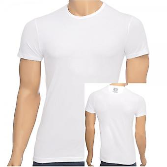 Versace Iconic Stretch Cotton Crew Neck T-Shirt, White, Small
