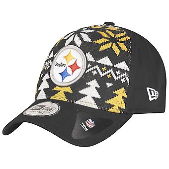 New Era Christmas Jumper Trucker Cap - Pittsburgh Steelers