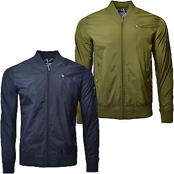 Lambretta Mens Lightweight  MA1 Casual Long Sleeve Full Zip Bomber Jacket Coat
