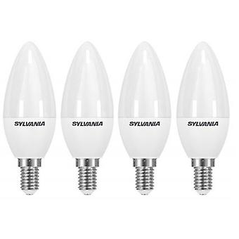 4 x Sylvania ToLEDo Candle Dimmable E14 V3 5.6W Daylight LED 470lm [Energy Class A+]