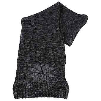 Bassin and Brown Temple Snowflake Wool Scarf - Grey