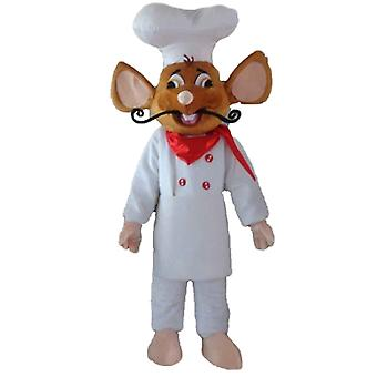 mascot SPOTSOUND of Ratatouille, famous rat, dressed in head chef