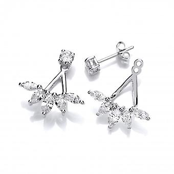 Cavendish French Silver and Cubic Zirconia Diamonds Jacket Earrings