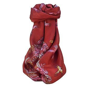 Mulberry silke moderne plassen skjerf Siri rød Pashmina & Silk