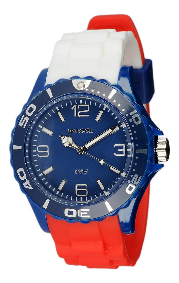 Waooh - Flag Of France In Silicone Watch Tricolore MC42