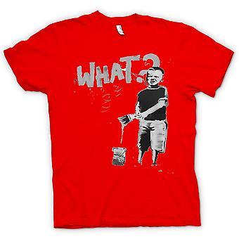 Womens T-shirt - Banksy Graffiti Art - What