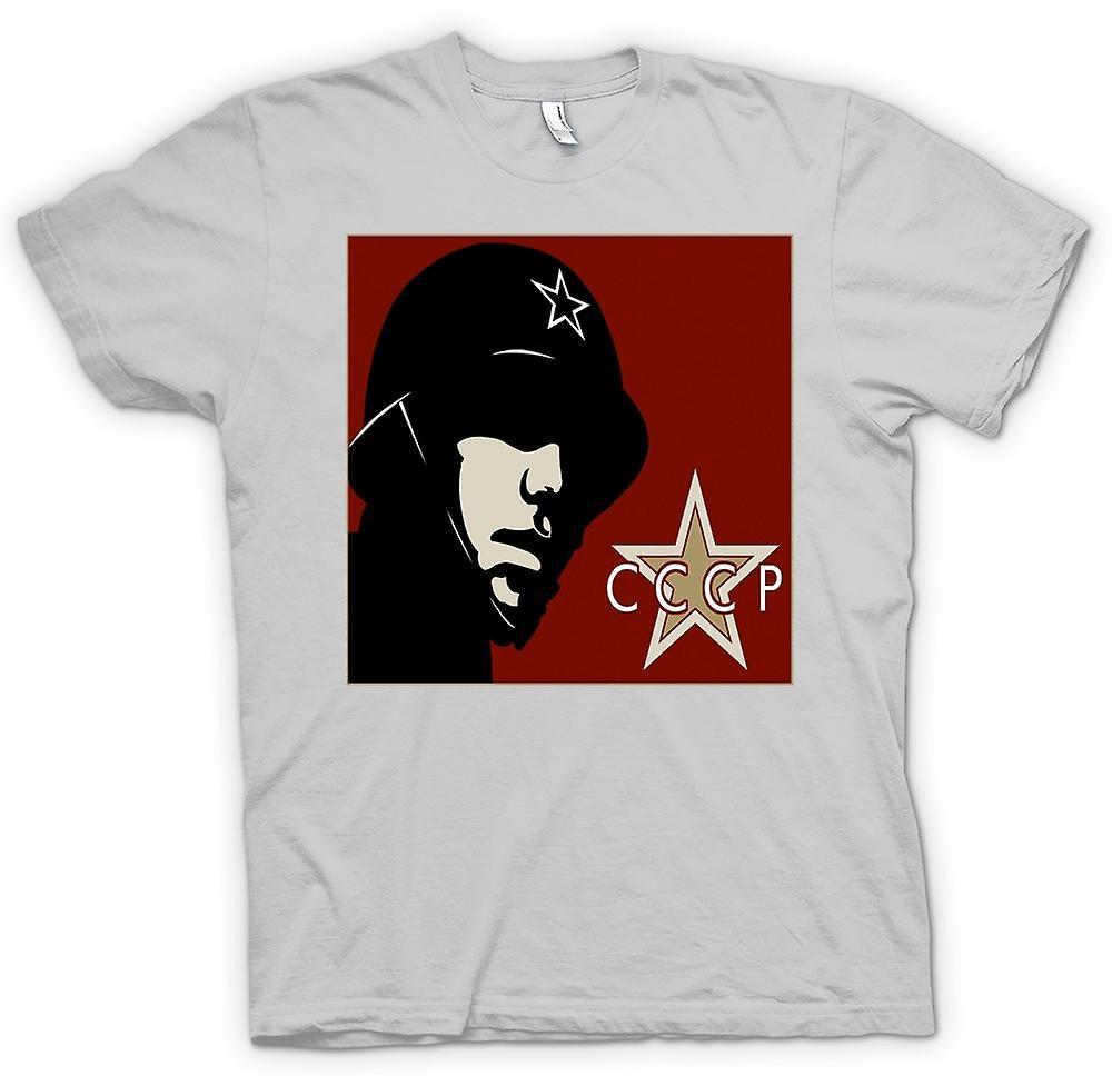 Mens t-skjorte - CCCP russiske - Propaganda plakat