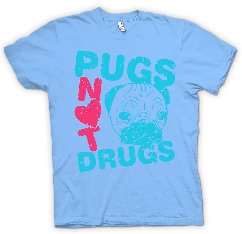 Mens T-shirt - Pugs Not Drugs Funny