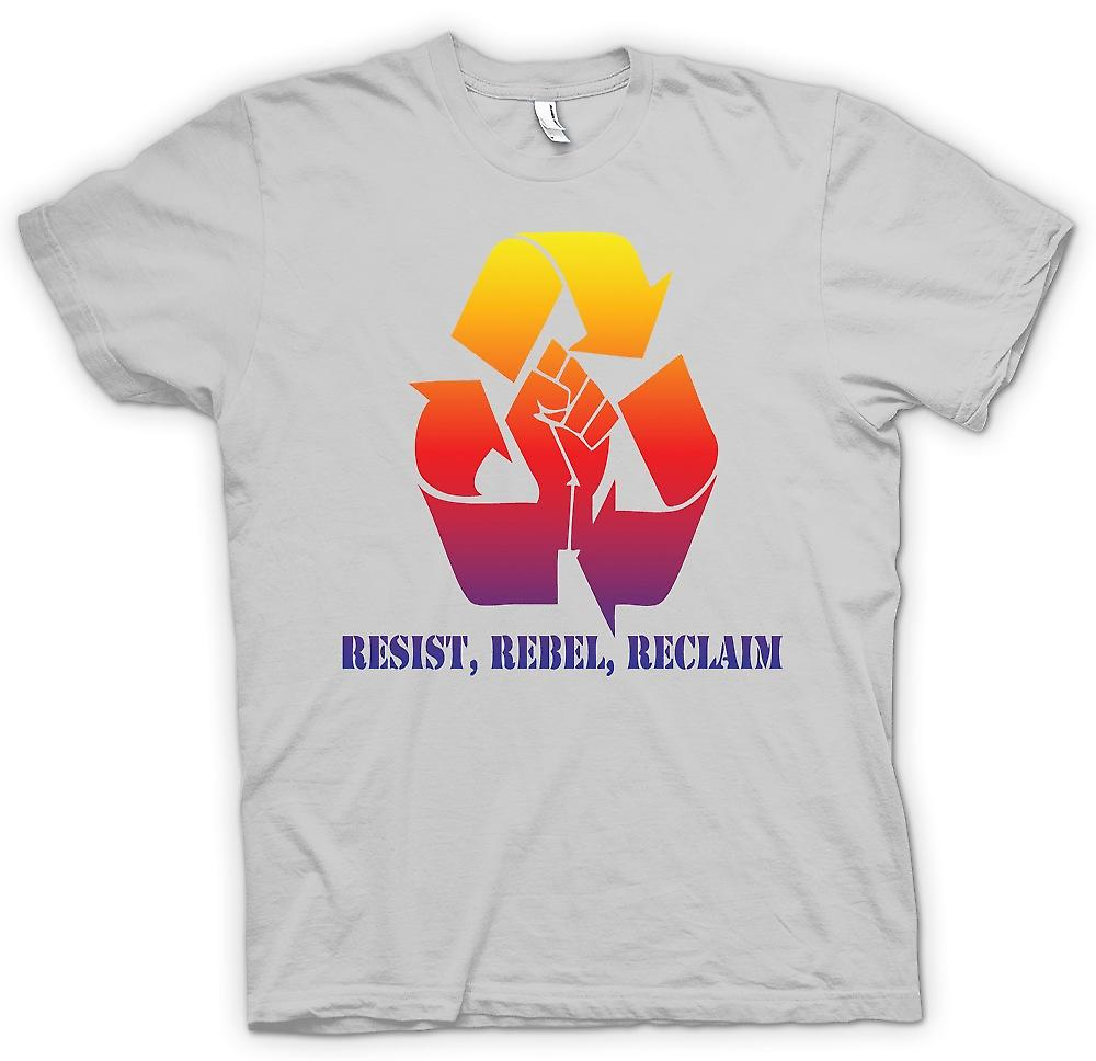 Mens t-shirt-Resist ribelle Reclaim