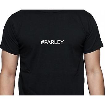 #Parley Hashag Parley svart hånd trykt T skjorte