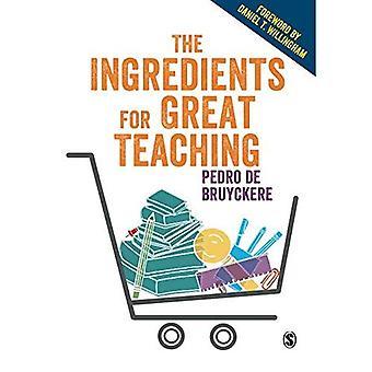 Les ingrédients pour grand enseignement