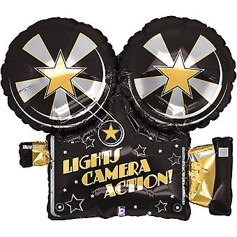 Oaktree Betallic 32 Inch Lights Camera Action Party Balloon