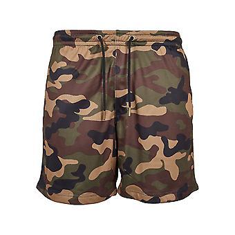 Urban classics men's shorts Camo mesh
