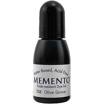 Memento Dye Ink Refill .5oz-Olive Grove