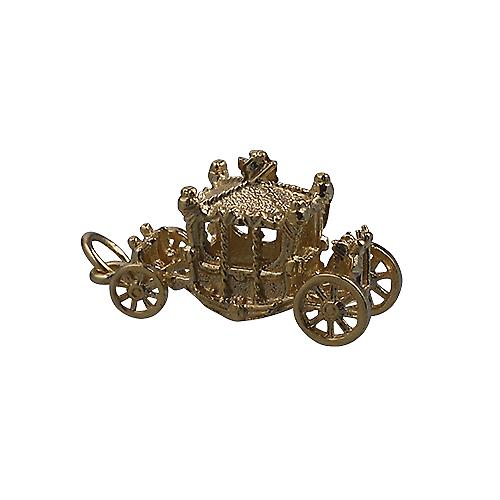 9ct Gold 15x22mm Coronation Coach Pendant or Charm